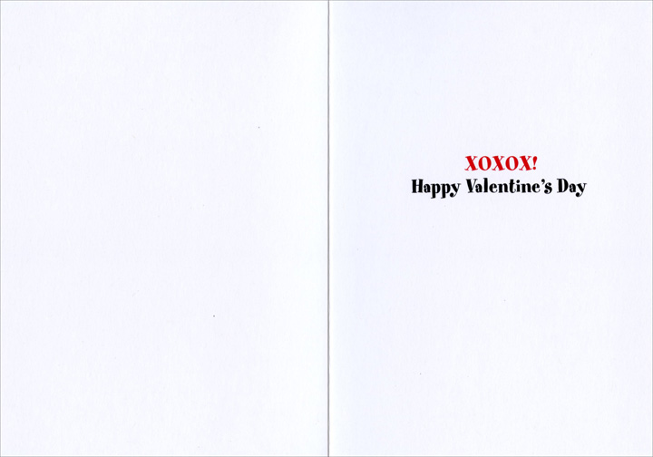 Dog With Heart Arrow (1 card/1 envelope) Avanti Funny Valentine's Day Card  INSIDE: XOXOX! Happy Valentine's Day