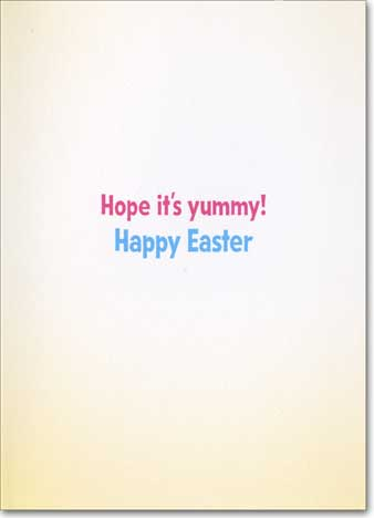 Lamb Eats Easter Grass (1 card/1 envelope) - Easter Card  INSIDE: Hope it's yummy! Happy Easter