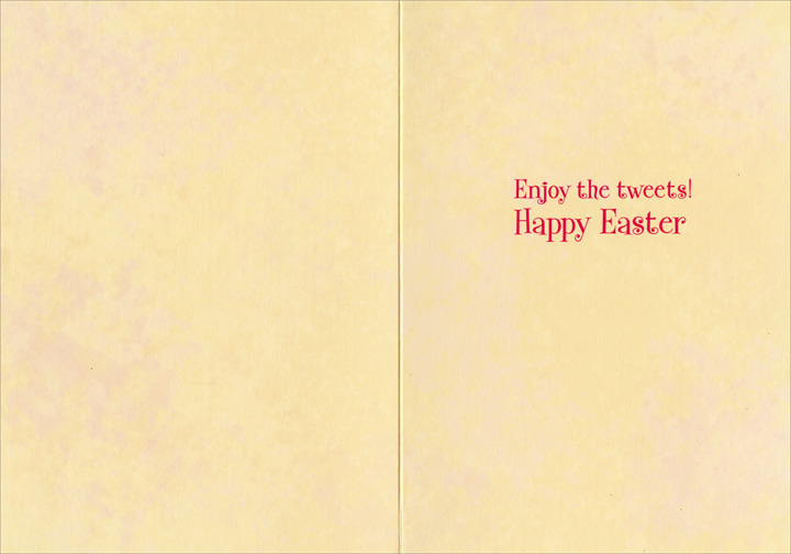 Chick Atop Egg (1 card/1 envelope) Avanti Funny Easter Card  INSIDE: Enjoy the tweets! Happy Easter