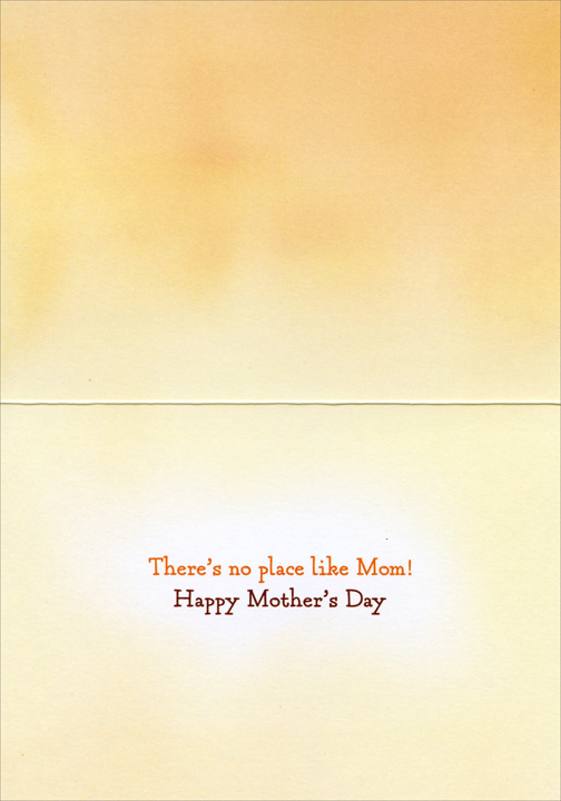 Kitten Hugs Cat (1 card/1 envelope) Avanti Cat Mother's Day Card  INSIDE: There's no place like Mom! Happy Mother's Day