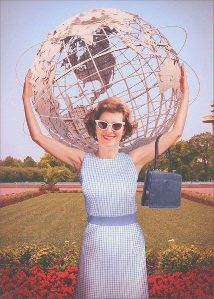 Mom Holds Globe (1 card/1 envelope) Avanti Funny Mother's Day Card  INSIDE: You make the world a better place! Happy Mother's Day