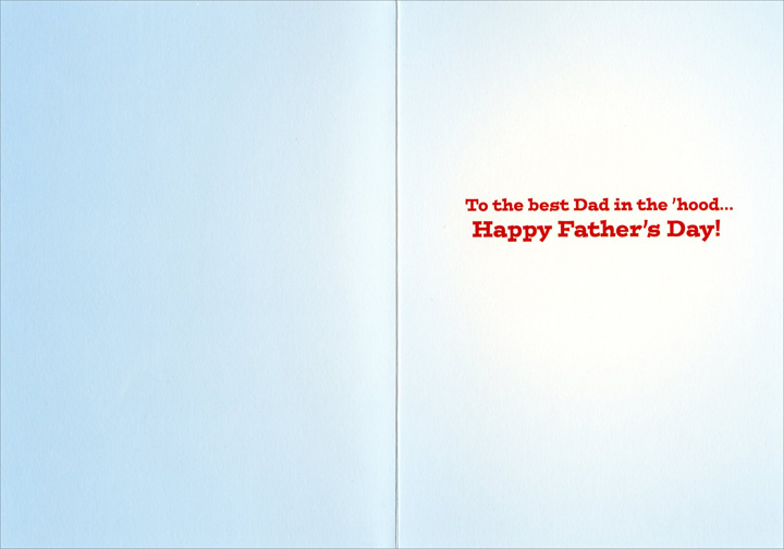 Dog In Engine (1 card/1 envelope) Avanti Funny Father's Day Card  INSIDE: To the best Dad in the 'hood … Happy Father's Day!