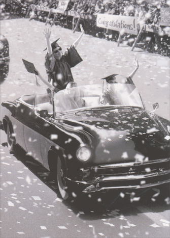 Ticker Tape Parade (1 card/1 envelope) Avanti Funny Graduation Card  INSIDE: Way to roll! Congratulations