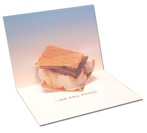 S'More Dogs (1 card/1 envelope) - Birthday Card - FRONT: Happy Birthday  INSIDE: �and many s'mores!