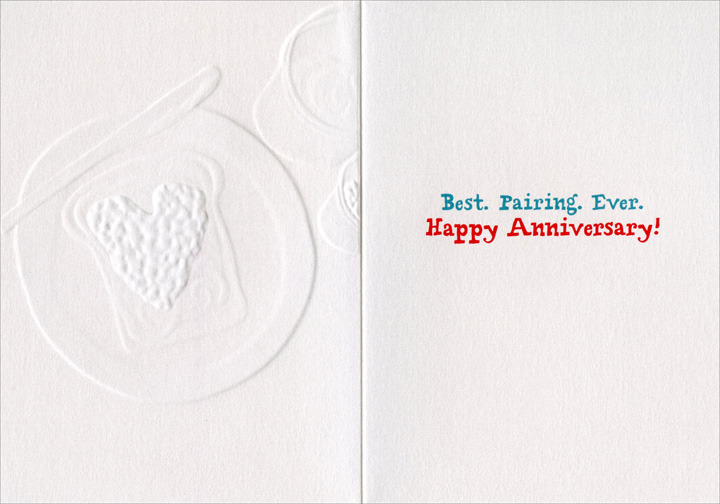 Peanut Butter & Jelly (1 card/1 envelope) Avanti A*Press Foil & Embossed Anniversary Card  INSIDE: Best. Pairing Ever. Happy Anniversary!