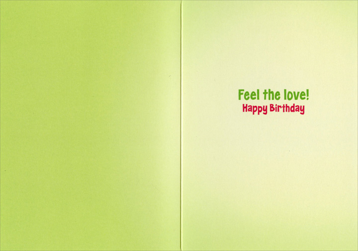 Baby With Kissmark (1 card/1 envelope) - Birthday Card  INSIDE: Feel the love! Happy Birthday