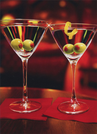 Olive Eyes In Martini Glass (1 card/1 envelope) Avanti Funny Romantic Birthday Card  INSIDE: Olive everything about you! Happy Birthday