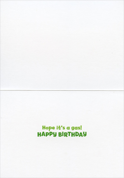 Big Dog/Little Dog (1 card/1 envelope) Avanti Funny Birthday Card  INSIDE: Hope it's a gas! Happy Birthday