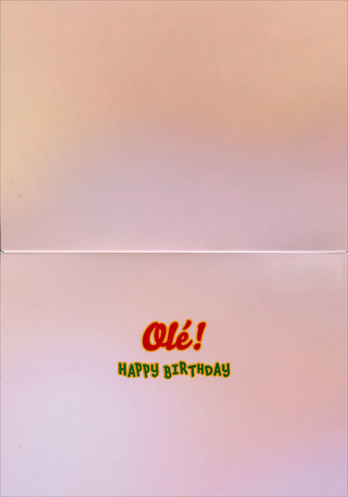 Owl Mariachi Band (1 card/1 envelope) Avanti Lenticular Motion Birthday Card  INSIDE: Ole! Happy Birthday