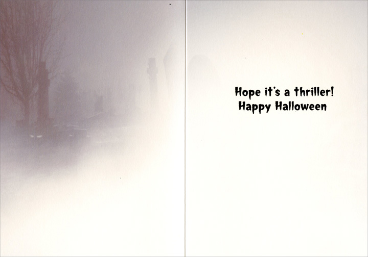 Spooky Dog (1 card/1 envelope) Avanti Funny Halloween Card  INSIDE: Hope it's a thriller! Happy Halloween