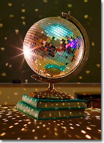 Disco Globe (1 card/1 envelope) - Graduation Card  INSIDE: Look out World! Congratulations