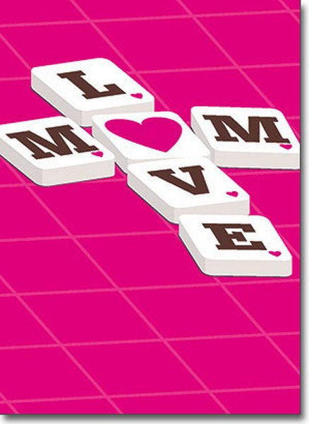 Word Puzzle (1 card/1 envelope) Avanti A*Press Mother's Day Card - FRONT: LOVE - MOM  INSIDE: Two words that mean the same thing! Happy Mother's Day