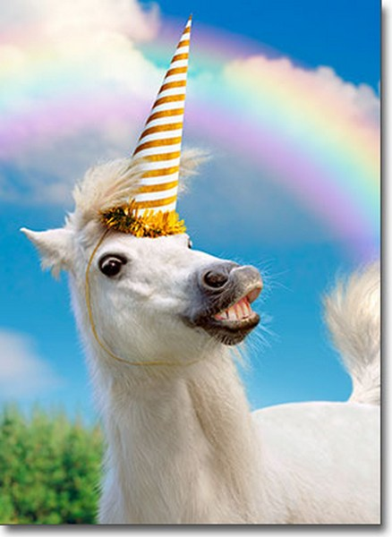 Uni-Horse (1 card/1 envelope) Avanti Funny Birthday Card  INSIDE: May all your dreams come true� (especially the weird ones!) Happy Birthday