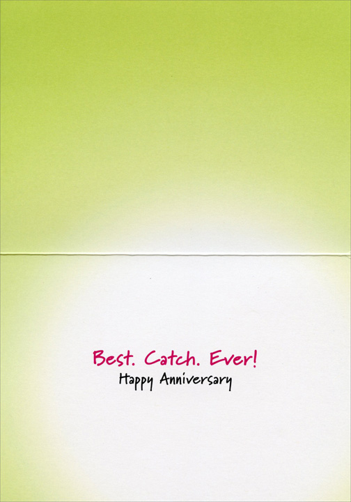 Bulldog Biting Bulldog Ear (1 card/1 envelope) Avanti Funny Dog Anniversary Card  INSIDE: Best. Catch. Ever! Happy Anniversary