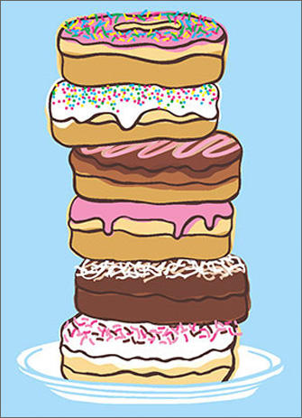 Donuts (1 card/1 envelope) - Birthday Card  INSIDE: Birthdays are like donuts�you never want to admit how many you've had!