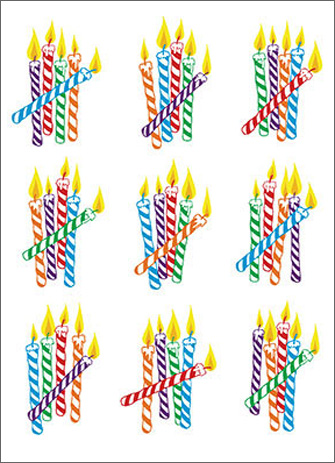 Birthday Candles (1 card/1 envelope) Avanti A*Press Birthday Card  INSIDE: IT'S JUST AN ESTIMATE! HAPPY BIRTHDAY