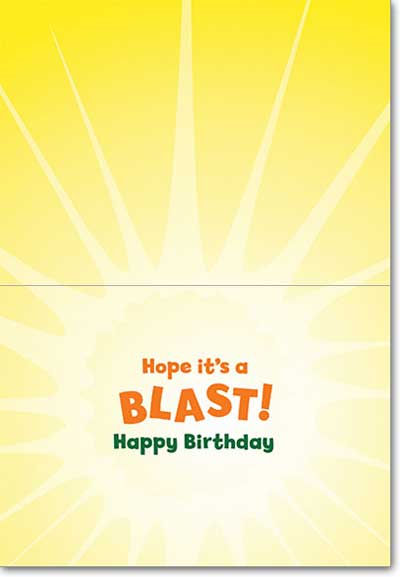 Duck Bubbles (1 card/1 envelope) Avanti Lenticular Motion Birthday Card  INSIDE: Hope it's a BLAST! Happy Birthday