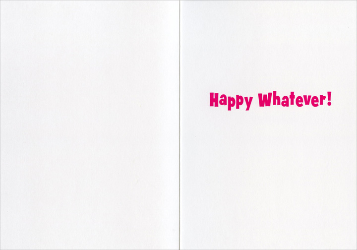 Women Martini Stand (1 card/1 envelope) Avanti Funny Birthday Card - FRONT: Happy Hour  INSIDE: Happy Whatever!