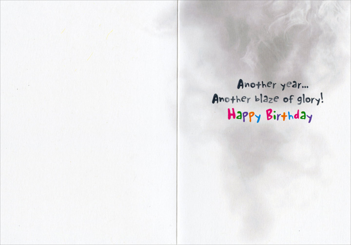 Birthday Cupcake (1 card/1 envelope) Avanti Funny Birthday Card  INSIDE: Another year� another blaze of glory! Happy Birthday