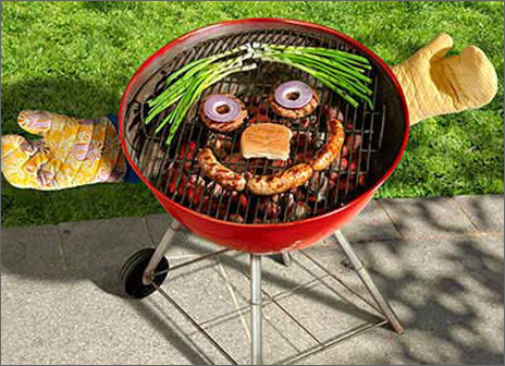 Grill Face (1 card/1 envelope) Avanti Funny Birthday Card  INSIDE: Seasoned to perfection! Happy Birthday