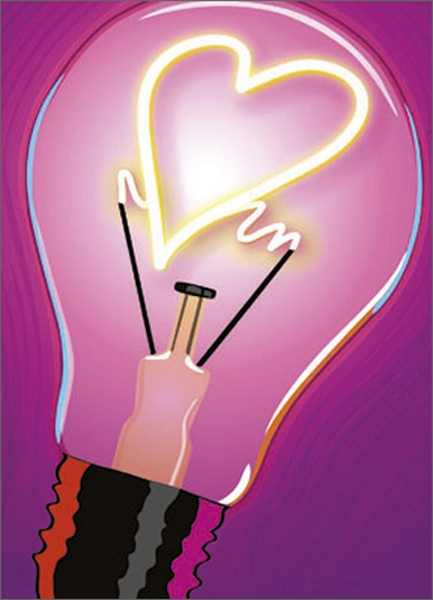 Light Bulb Graphic (1 card/1 envelope) Avanti A*Press Anniversary Card  INSIDE: Do you have any idea how much I love you?! Happy Anniversary