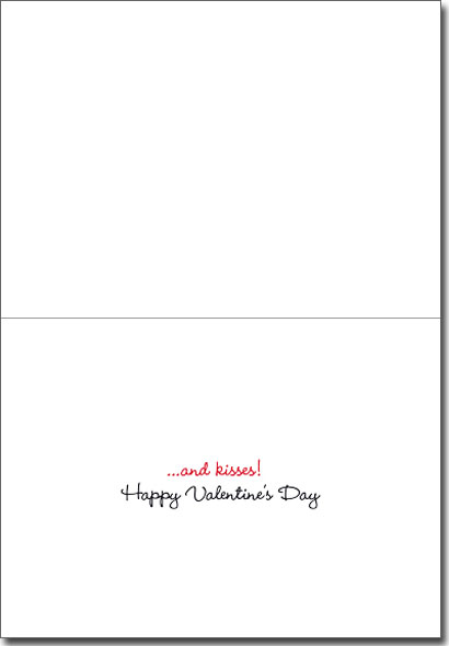 Kitten Holds Heart (1 card/1 envelope) - Valentine's Day Card - FRONT: love  INSIDE: �and kisses! Happy Valentine's Day