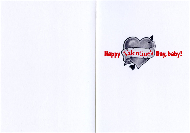 Baby 5-O'Clock Shadow (1 card/1 envelope) Avanti Funny Valentine's Day Card  INSIDE: Happy Valentine's Day, baby!
