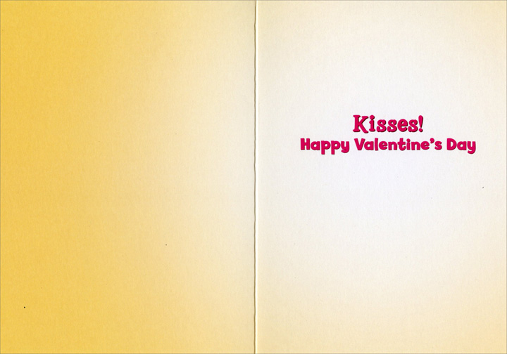 Kitten Licks Kitten (1 card/1 envelope) Avanti Funny Cat Valentine's Day Card  INSIDE: Kisses! Happy Valentine's Day