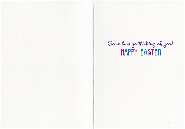 Gecko Bunny (1 card/1 envelope) - Easter Card  INSIDE: Some bunny's thinking of you! Happy Easter