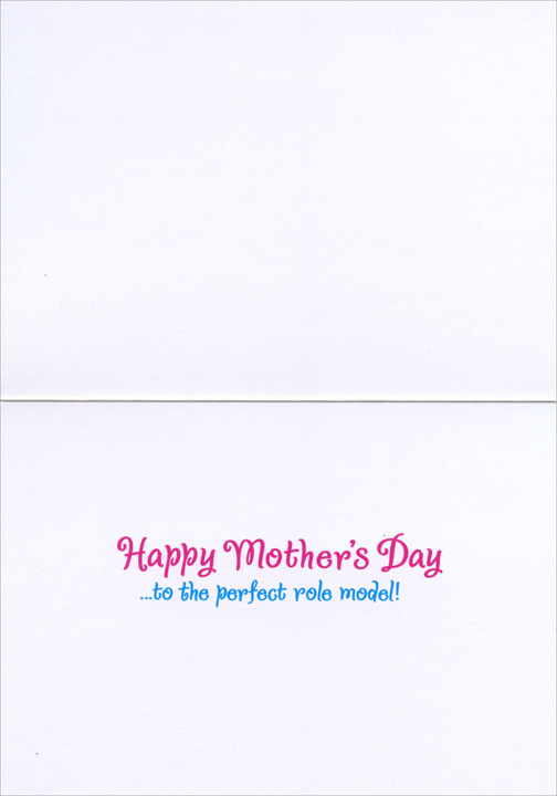 Mom & Daughter Dog Shopping (1 card/1 envelope) - Mother's Day Card  INSIDE: Happy Mother's Day �to the perfect role model!