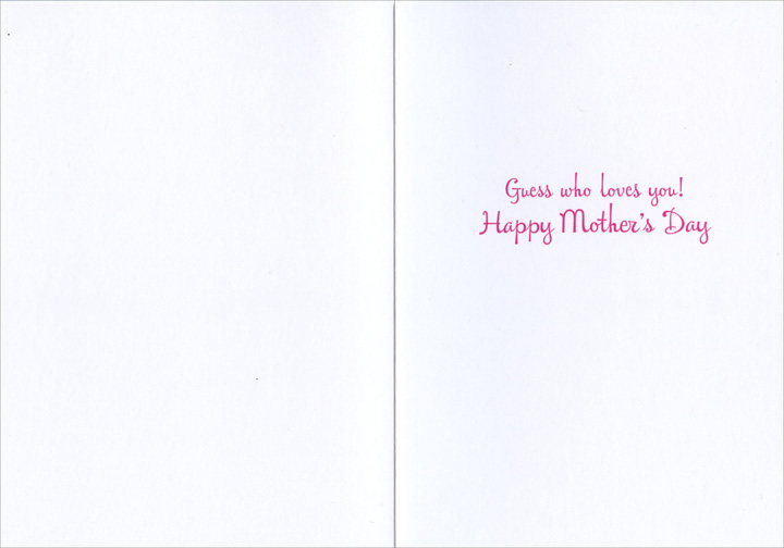 Girl Covers Mom's Eyes (1 card/1 envelope) Avanti Mother's Day Card  INSIDE: Guess who loves you! Happy Mother's Day