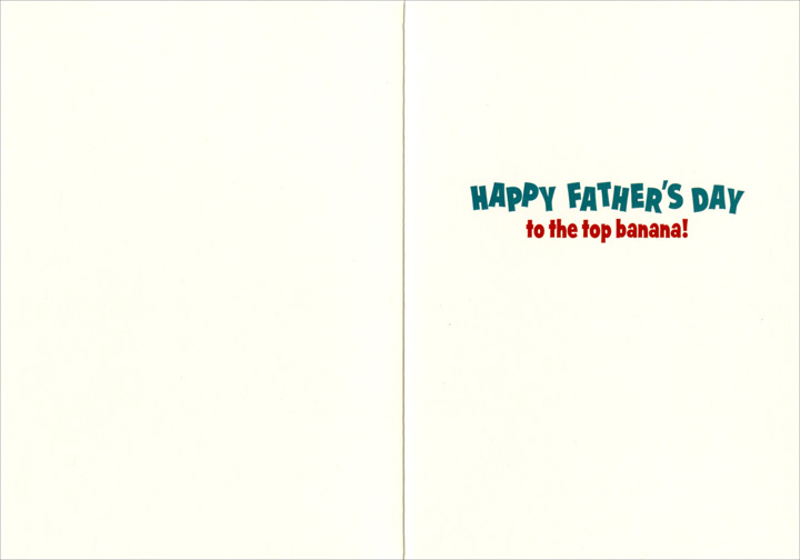 Gorilla With Pipe (1 card/1 envelope) - Father's Day Card  INSIDE: Happy Father's Day to the top banana!