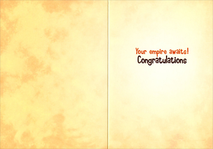 Toga Owl (1 card/1 envelope) Avanti Funny Graduation Card  INSIDE: Your empire awaits! Congratulations