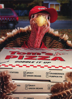 Turkey Delivers Pizza (1 card/1 envelope) Avanti Funny Thanksgiving Card