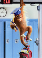 Orangutan Grad (1 card/1 envelope) - Graduation Card  INSIDE: Today you're Top Banana! Happy Graduation