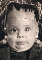 Halloween Baby With Bolted Neck (1 card/1 envelope) Avanti Stand Out Pop Up Funny Halloween Card