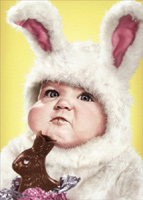 Baby In Rabbit Outfit (1 card/1 envelope) Avanti Funny Easter Card