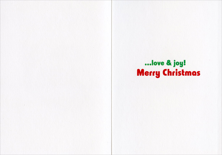 Peace Frog (1 card & 1 envelope) Avanti Christmas Card - FRONT: Peace  INSIDE: ..love & joy! Merry Christmas