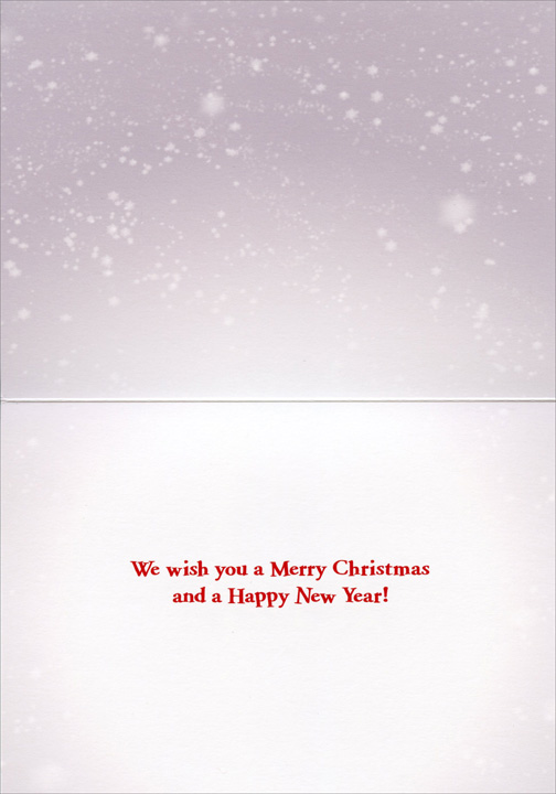 Baby Penguin Carolers (10 cards & 12 envelopes) - Boxed Christmas Cards  INSIDE: We wish you a Merry Christmas and a Happy New Year!
