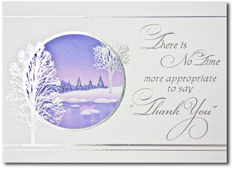 Shimmering Trees of Silver (25 cards & envelopes) - Boxed Holiday Cards
