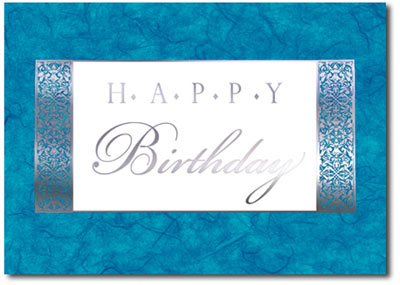 Happy Birthday Marble (25 cards & envelopes) Personalized Business Boxed Birthday Cards