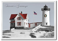 Nubble Holiday Lighthouse (25 cards & envelopes) - Boxed Holiday Cards