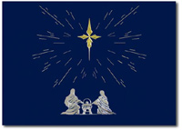 Holy Family under Gold Foil Star (25 cards & envelopes) - Boxed Christmas Cards