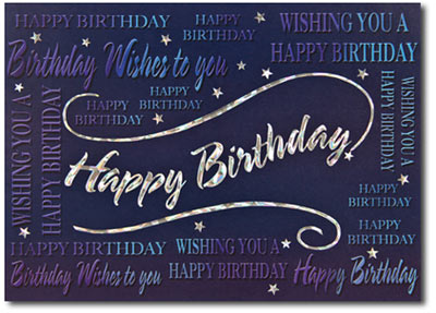 happy birthday captions  cards  envelopes personalized, Birthday card