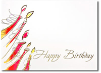 Happy Birthday Modern Candles (25 cards & envelopes) - Boxed Birthday Cards