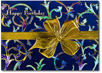 Happy Birthday Bow (25 cards & envelopes) Personalized Business Boxed Birthday Cards