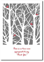 Cardinals at Rest (25 cards & envelopes) Personalized Business Boxed Holiday Cards