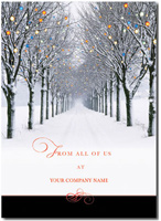 Illuminated Lane (25 cards & envelopes)  Boxed Holiday Cards