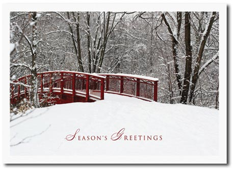 Winter Awaits (25 cards & envelopes) Personalized Boxed Holiday Cards