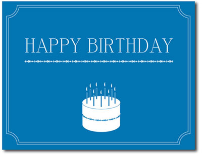 Make a Wish (25 cards & envelopes) Personalized Business Boxed Birthday Cards
